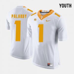 College Football White Youth #1 Michael Palardy UT Jersey 618102-152