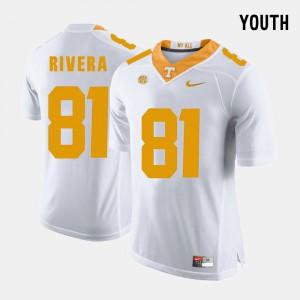 College Football White #81 Kids Mychal Rivera UT Jersey 760912-480
