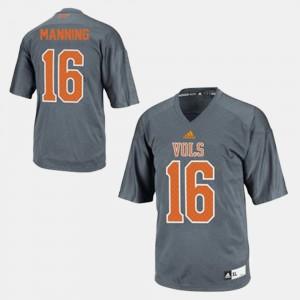 College Football Peyton Manning UT Jersey Gray Men's #16 682709-697