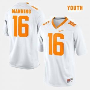 College Football #16 Peyton Manning UT Jersey White Youth 654286-316