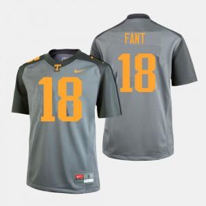 Men's Princeton Fant UT Jersey College Football #18 Gray 479454-374