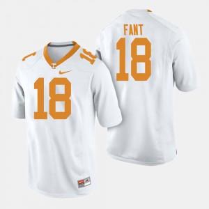 College Football Princeton Fant UT Jersey #18 For Men's White 777222-674