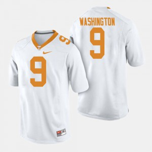 Seth Washington UT Jersey #9 White College Football For Men 279460-824