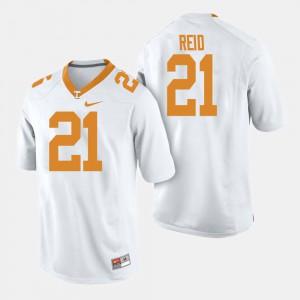#21 College Football Men's Shanon Reid UT Jersey White 496604-528