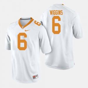 College Football Shaq Wiggins UT Jersey White Men #6 252000-313