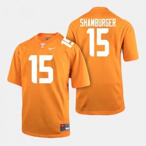 College Football Mens #15 Shawn Shamburger UT Jersey Orange 152953-772