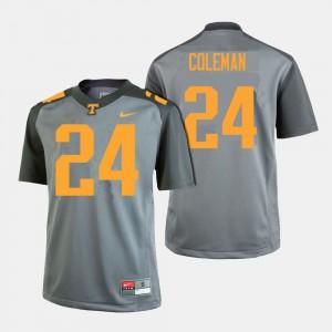 #24 College Football For Men's Trey Coleman UT Jersey Gray 276221-753