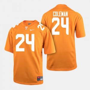 Trey Coleman UT Jersey Men Orange #24 College Football 782178-513