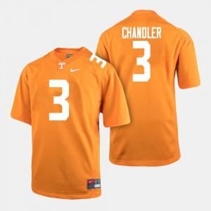 Orange Ty Chandler UT Jersey College Football #3 For Men's 341111-916
