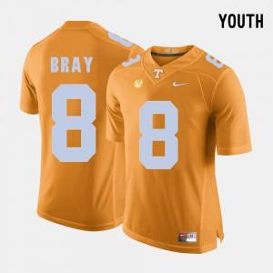 Tyler Bray UT Jersey #8 College Football Orange Kids 771293-852