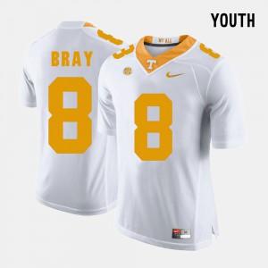 College Football For Kids #8 Tyler Bray UT Jersey White 111657-810