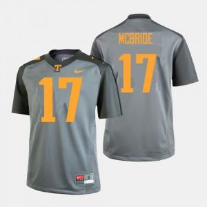 #17 College Football Will McBride UT Jersey Gray Men 518233-561
