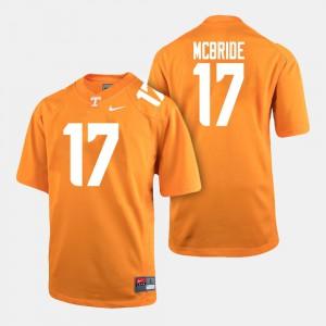 For Men's College Football #17 Orange Will McBride UT Jersey 290704-404
