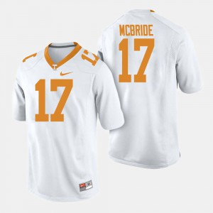 White #17 Will McBride UT Jersey For Men's College Football 612786-727