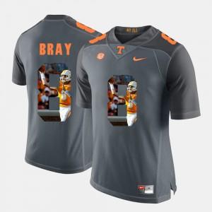 Pictorial Fashion Grey Mens #8 Tyler Bray UT Jersey 708338-577
