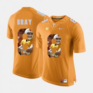 Pictorial Fashion #8 Orange For Men Tyler Bray UT Jersey 224568-737
