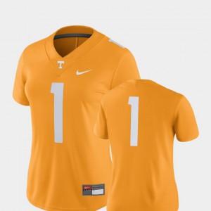 #1 2018 Game UT Jersey Ladies College Football Tennessee Orange 690898-316
