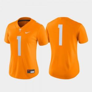 Tennessee Orange Women's College Football UT Jersey Game #1 215240-858