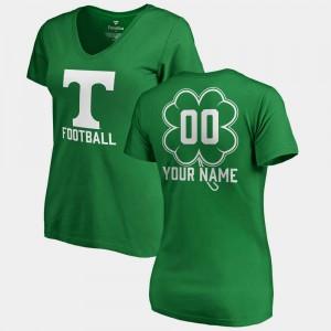 #00 V-Neck Dubliner Fanatics Ladies St. Patrick's Day Kelly Green UT Customized T-Shirt 856752-208
