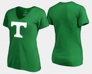 White Logo Kelly Green St. Patrick's Day UT T-Shirt Women's 494688-224