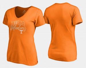 Women Tennessee Orange V-Neck UT T-Shirt Graceful 957466-987