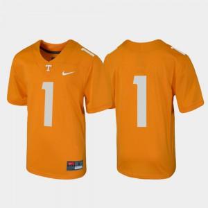 Untouchable #1 Football UT Jersey Tennessee Orange Youth 203631-358